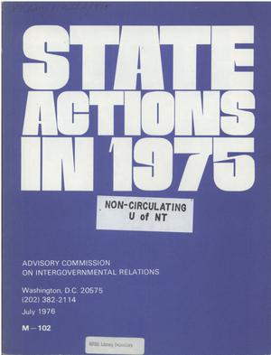 Primary view of object titled 'State actions in 1975'.
