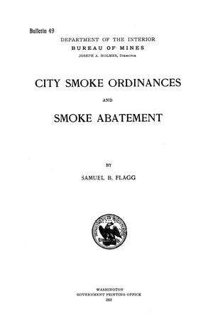 Primary view of object titled 'City Smoke Ordinances and Smoke Abatement'.
