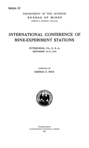 Primary view of object titled 'International Conference of Mine-Experiment Stations: Pittsburgh, Pennsylvania, U.S.A., September 14-21, 1912.'.