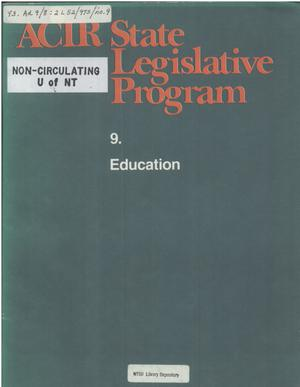 Primary view of object titled 'ACIR state legislative program : 9. Education'.