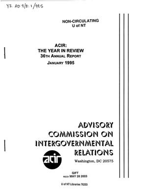 Primary view of object titled '36th Annual Report'.