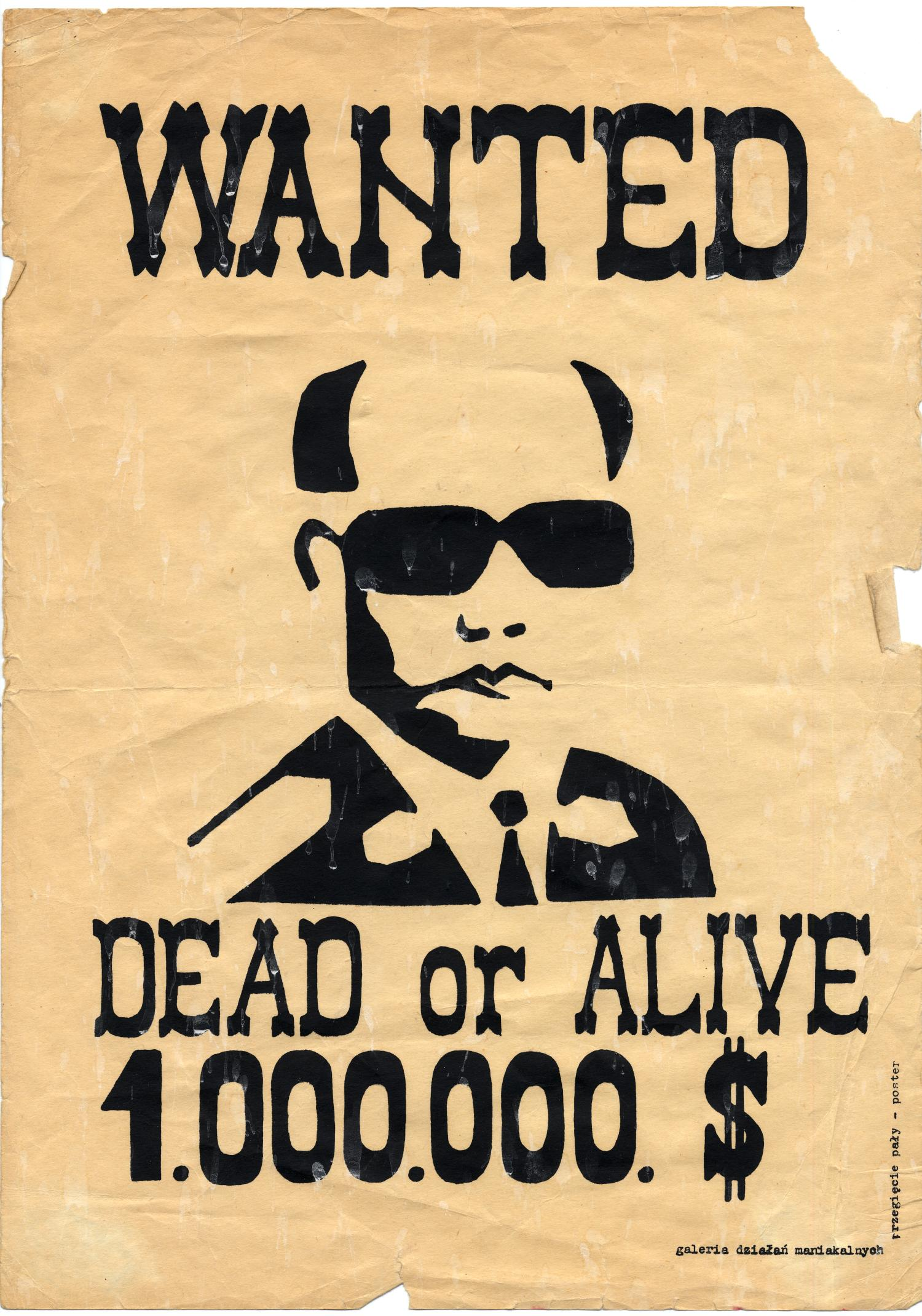 Wanted: Dead or Alive, 1.000.000. $                                                                                                      [Sequence #]: 1 of 1