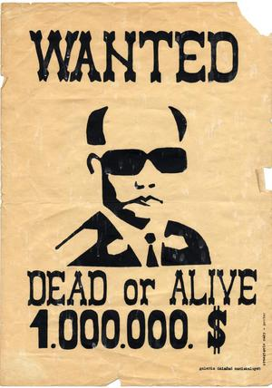Primary view of object titled 'Wanted: Dead or Alive, 1.000.000. $'.