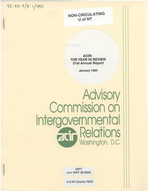 Primary view of object titled '31st Annual Report'.