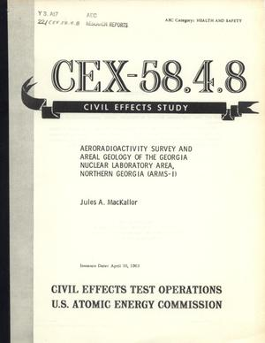 Primary view of object titled 'Aeroradioactivity Survey and Areal Geology of the Georgia Nuclear Laboratory Area, Northern Georgia (ARMS-I)'.