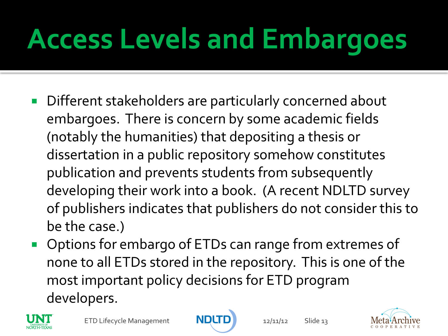 Providing the ETDs of Today for the Researchers of Tomorrow                                                                                                      [Sequence #]: 13 of 23
