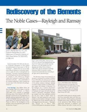 Rediscovery of the Elements: The Noble Gases--Rayleigh and Ramsay