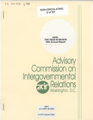 Primary view of object titled '29th Annual Report'.