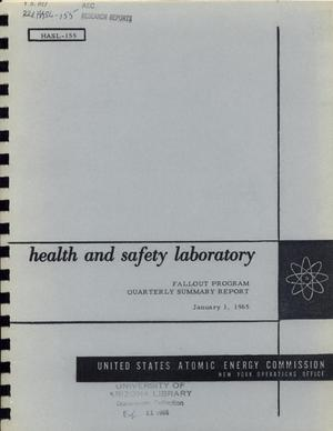 Primary view of object titled 'Health and Safety Laboratory Fallout Program Quarterly Summary Report: September 1, 1964 - December 1, 1964'.