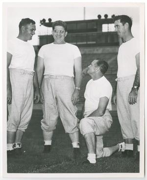 Primary view of object titled '[Group portrait of 1950 North Texas State football coaches]'.