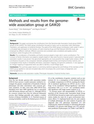 Methods and results from the genome-wide association group at GAW20