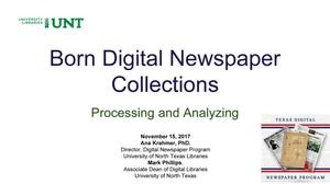 Born Digital Newspaper Collections