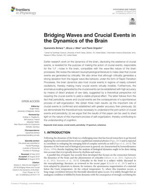 Bridging Waves and Crucial Events in the Dynamics of the Brain