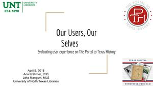 Our Users, Our Selves: Evaluating user experience on The Portal to Texas History
