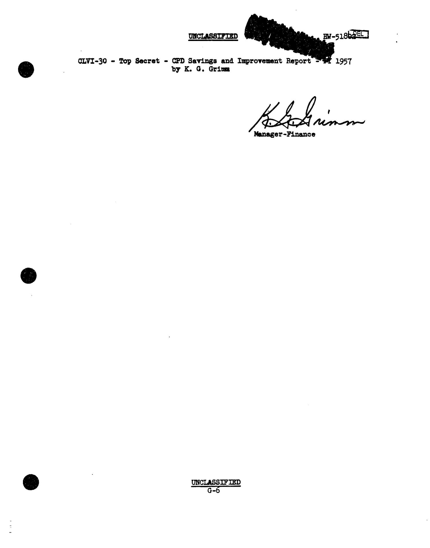 Chemical Processing Department Monthly Report: July 1957                                                                                                      [Sequence #]: 57 of 107