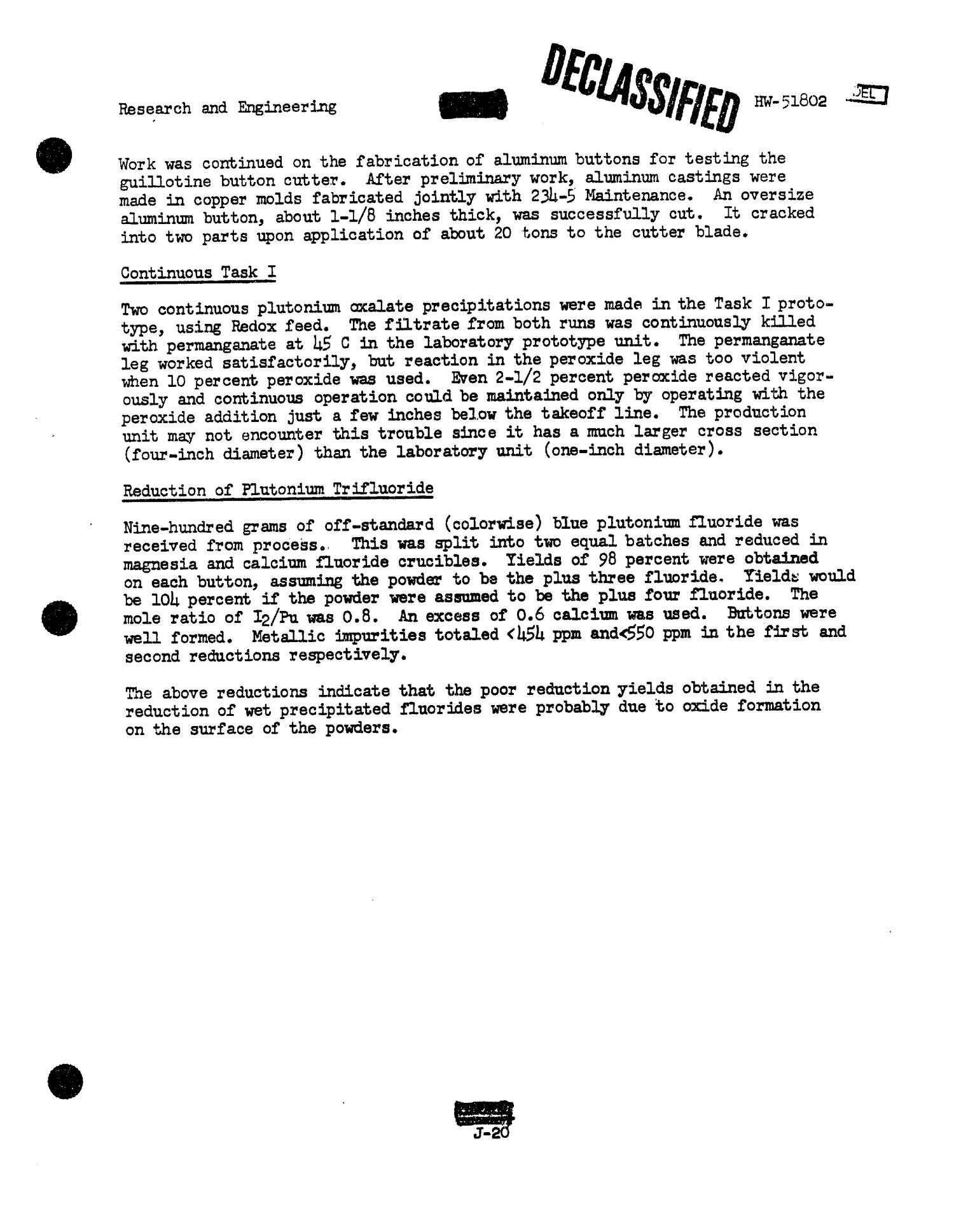 Chemical Processing Department Monthly Report: July 1957                                                                                                      [Sequence #]: 88 of 107