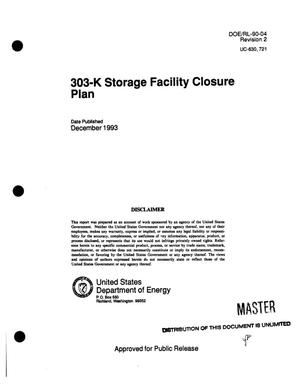 Primary view of 303-K Storage Facility closure plan. Revision 2
