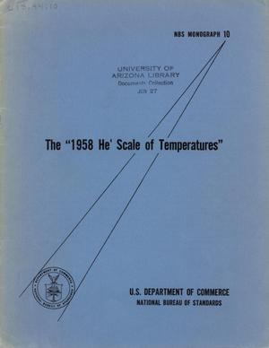 The 1958 He4 Scale of Temperatures: Part 1. Introduction, Part 2. Tables for the 1958 Temperature Scale