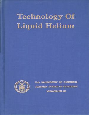 Primary view of object titled 'Technology of Liquid Helium'.