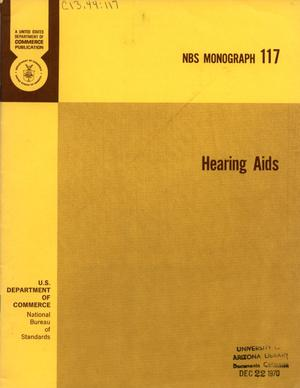 Primary view of object titled 'Hearing Aids'.