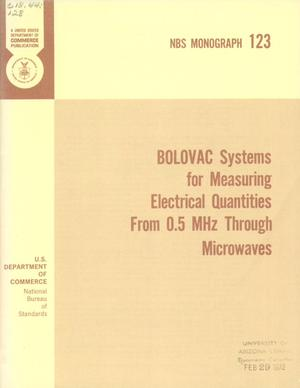 Primary view of object titled 'BOLOVAC Systems for Measuring Electrical Quantities From 0.5 MHz Through Microwaves'.