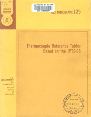 Primary view of object titled 'Thermocouple Reference Tables Based on the IPTS-68'.