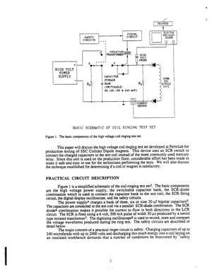 A design for a high voltage magnet coil ringer test set
