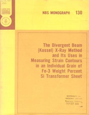 Primary view of object titled 'The Divergent Beam (Kossel) X-Ray Method and Its Uses in Measuring Strain Contours in an Individual Grain of Fe-3 Weight Percent Si Transformer Sheet'.