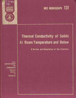 Primary view of object titled 'Thermal Conductivity of Solids At Room Temperature and Below: A Review and Compilation of the Literature'.