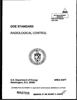 Primary view of object titled 'DOE standard: Radiological control'.