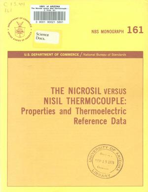 Primary view of object titled 'The Nicrosil versus Nisil Thermocouple: Properties and Thermoelectric Reference Data'.