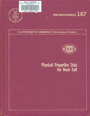 Primary view of object titled 'Physical Properties Data for Rock Salt'.