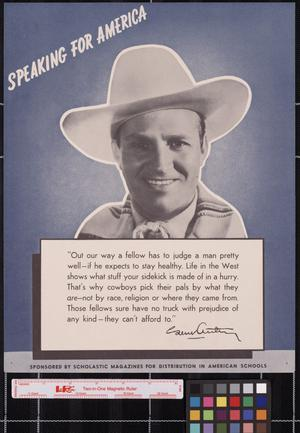 Primary view of object titled 'Speaking for America ... Gene Autry.'.