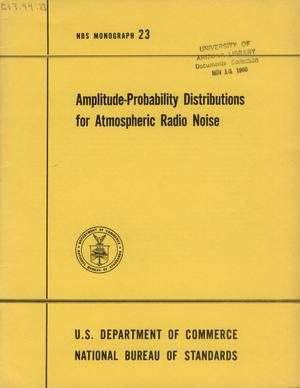 Amplitude-Probability Distributions for Atmospheric Radio Noise