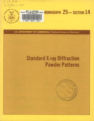 Primary view of object titled 'Standard X-ray Diffraction Powder Patterns: Section 14. Data for 68 substances'.