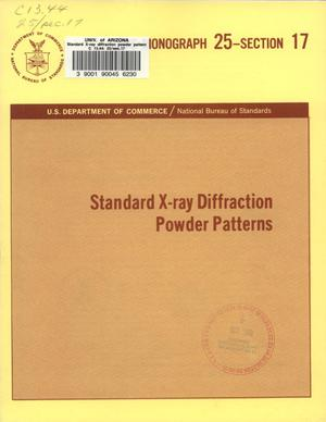 Standard X-ray Diffraction Powder Patterns: Section 17. Data for 54 Substances