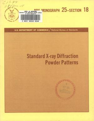 Standard X-ray Diffraction Powder Patterns: Section 18. Data for 58 Substances