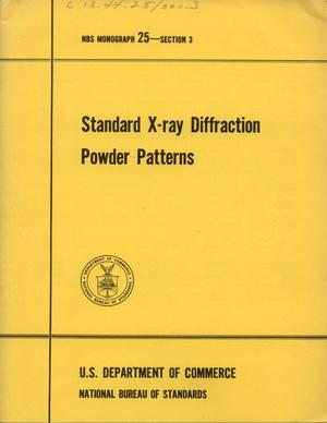 Primary view of object titled 'Standard X-ray Diffraction Powder Patterns: Section 3. Data for 51 Substances'.