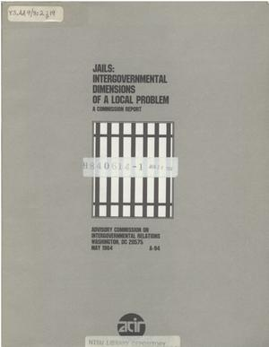 Primary view of object titled 'Jails : intergovernmental dimensions of a local problem'.