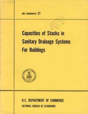 Primary view of object titled 'Capacities of Stacks in Sanitary Drainage Systems for Buildings'.