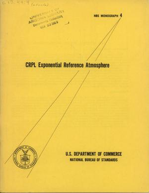 CRPL Exponential Reference Atmosphere