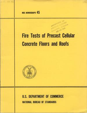 Primary view of object titled 'Fire Tests of Precast Cellular Concrete Floors and Roofs'.