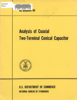 Primary view of object titled 'Analysis of Coaxial Two-Terminal Conical Capacitor'.