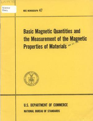 Basic Magnetic Quantities and the Measurement of the Magnetic Properties of Materials