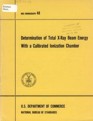 Determination of Total X-Ray Beam Energy With a Calibrated Ionization Chamber