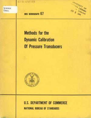 Primary view of object titled 'Methods for the Dynamic Calibration of Pressure Transducers'.