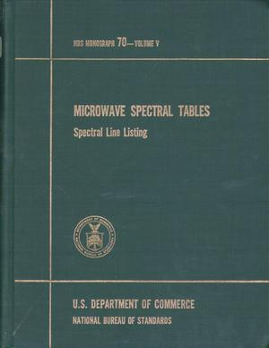 Primary view of object titled 'Microwave Spectral Tables: Volume 5. Spectral Line Listing'.