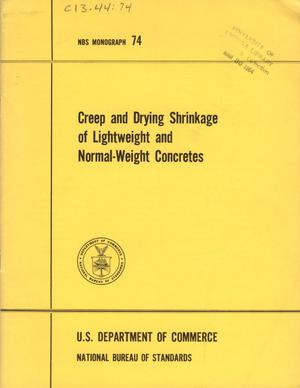 Creep and Drying Shrinkage of Lightweight and Normal-Weight Concretes