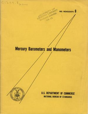 Primary view of object titled 'Mercury Barometers and Manometers'.