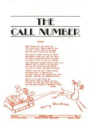 Primary view of object titled 'The Call Number, Volume 10, Number 3, December 1948'.